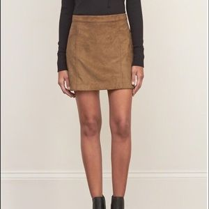 Abercrombie Faux Suede Skirt! NWT